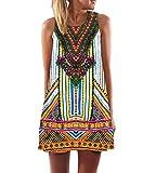 365-Shopping Damen Sommer Chiffon Kleider Sommerkleid Strandkleid Lose Minikleid Partykleider Top (L (38-40), Typ 5)