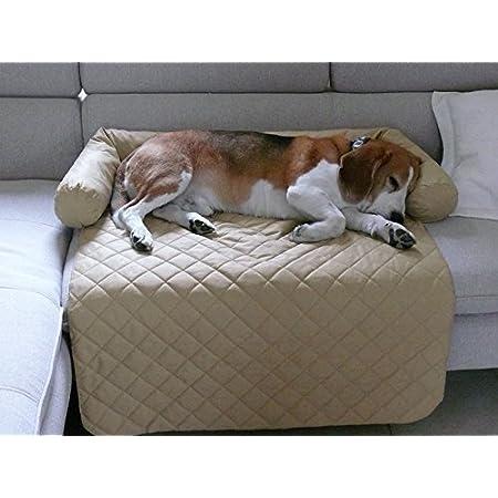 Artur Soja LEOS Sofaschutz Hundebett Couch Hundematte Größen: S-XL (L – 85x100cm, Beige)