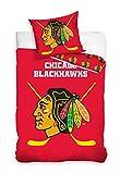 NHL Chicago Blackhawks 161022 National Hockey League Fan Bettwäsche 140x200 cm + 70x90 cm