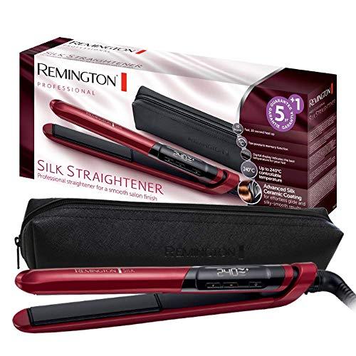 51YOMvWaaVL - Remington Silk S9600 - Plancha de Pelo, Cerámica, Digital, Placas Flotantes Extralargas, Rojo, Resultados Profesionales, Rojo