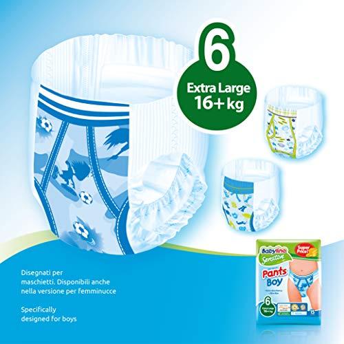 Babylino Sensitive Pants Boy Extra Large, 90 Pannolini Mutandina Taglia 6 (16+Kg)