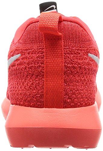 Nike Men's Roshe Nm Flyknit Shoe, Scarpe da Ginnastica Uomo Rosso (Bright Crimson/White/University Red)