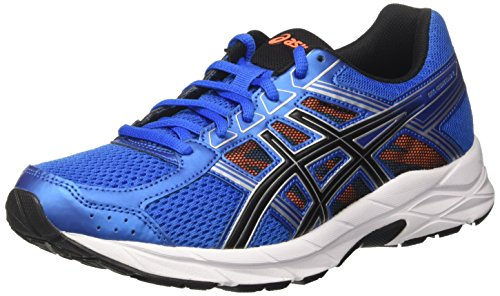Asics Gel-Contend 4, Zapatillas de Gimnasia Hombre, Azul (Directoire Blue / Black / Hot Orange), 40.5 EU