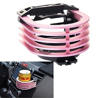 Langdy Aluminiumlegierung Verstellbare Autohalterung, Outlet Cup Holder Auto Outlet Drink Rack, Getränkehalter für Luftkühler/Liter Dosen/Kaffeetassen/Isolierflaschen (Rosa)
