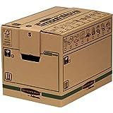 Bankers Box 62052 - Caja de transporte y mudanza, mediana, beige