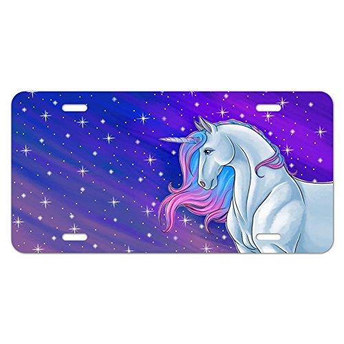 Majestic Unicorn pink violett blau Neuheit Metall Vanity Tag License - Plate License Pink Cover