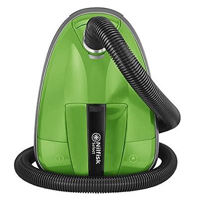 Nilfisk 128350600 Aspirador Trineo, 220-230V, con Bolsa, 650 W, 2.7 litros, 75 Decibeles, Green