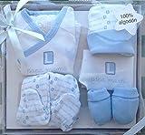 Set de regalo para bebé nacido, 0-3meses,5 piezas. color azul