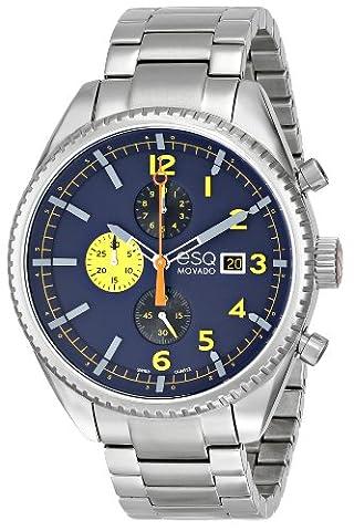 Esq Homme 44mm Chronographe Argent Acier Bracelet & Boitier Date Montre 7301446