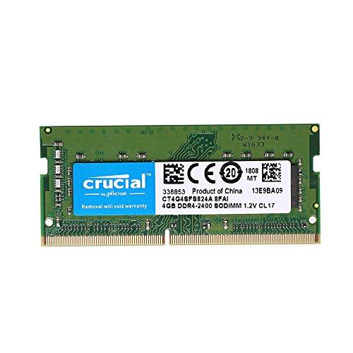 Grborn 4GB Single DDR4 2400 MT/s PC4-19200 CL17 1,2 V SODIMM 260-Pin Speicher für Laptop Notebook CT4G4SFS824A