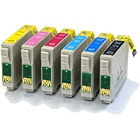 6 Compatible Printer Ink Cartridges fit Epson Stylus Photo 1400 & 1500W ( T0791, T0792, T0793, T0794, T0795, T0796 )