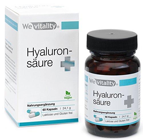 Wevitality Hyaluron Booster Plus MIT GESCHENK: 60 Hyaluron Kapseln mit Hyaluronsäure 90mg, Von Apotheker Entwickelt Und In Deutschland Hergestellt, Mit Vitamin C, Zink, Granatapfelkernmehl