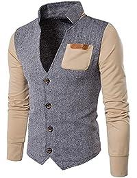 Casual Hombre Blazer Cuello en V con Botones Sweatshirt Chaqueta Abrigo