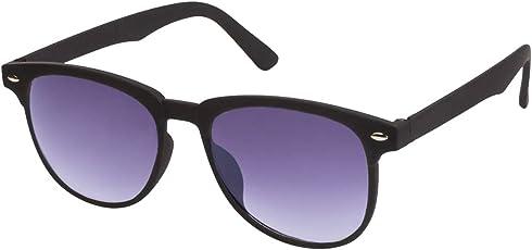 Gansta 100% UV Portected Wayfarer Jet Black frame with gradient lenses Sunglasses For Men Women & Teenager (GN11126-Blk-GD) Black lenses