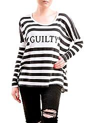 Wildfox Mujer Guilty Striped Sweatshirt