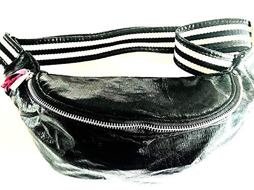 brasi&brasi Tasche Belt&Bag Stripe Glitter Schwarz NEU!!NEU!!NEU!! - Schwarz Belt Tasche
