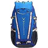 GYBY Outdoor-Reiserucksack, 40L Rucksack, leichte Wanderrucksack Reiserucksack wasserdicht Camping-Tagespaket kann für Sport-Bike verwendet werden, Wandern, Skaten, Kurztrip-blue