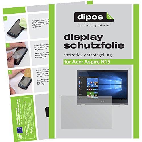 dipos I 2X Schutzfolie matt passend für Acer Aspire R15 Folie Displayschutzfolie