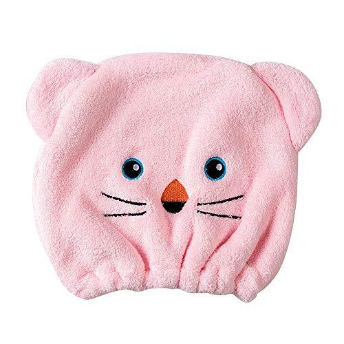Rosennie Qualitäts Microfiber Hair Turban schnell trockenes Haar Hut gewickelt Handtuch Badekappe Trockenhauben Wasser schnell trocknende Duschhaube Badezimmer Handtuch Kopftuch saugfähigen (Rosa)