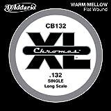 D'Addario CB132 Einzelsaite für Bassgitarre (0,123 Stärke) Chromes Flat Wound