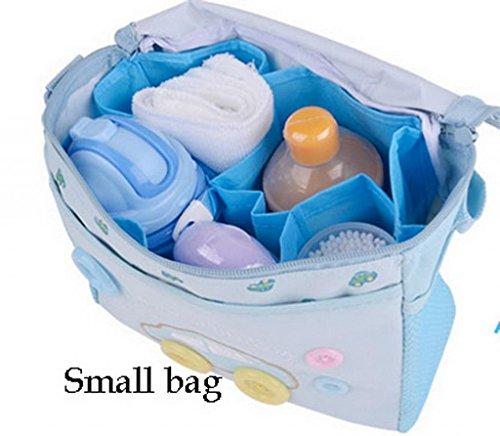 EOZY Babytasche Wickeltasche Set Pflegetasche Wickelhenkeltaschen Mummy Bag 4-teiliges Wickelset (#A Hellblau) #A Hellblau