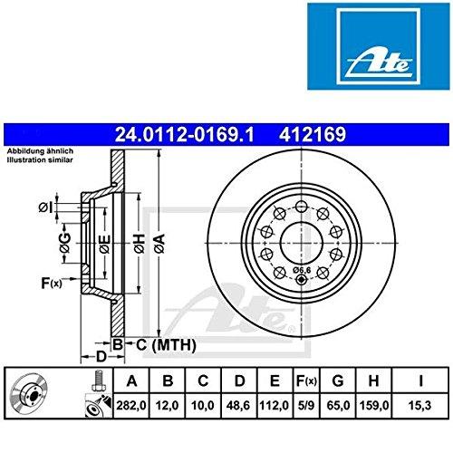 Preisvergleich Produktbild ATE 24011201691 Bremsscheibe - (Paar)