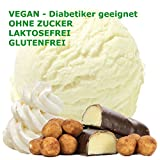 Marzipan Sahne Geschmack Eispulver VEGAN - OHNE ZUCKER - LAKTOSEFREI - GLUTENFREI - FETTARM, auch für Diabetiker Milcheis Softeispulver Speiseeispulver Gino Gelati (Marzipan Sahne, 333 g)