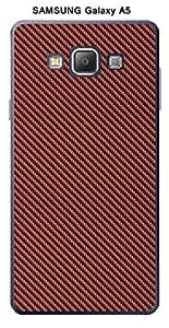 Coque Carbone couleur Marsala pour Samsung Galaxy A5