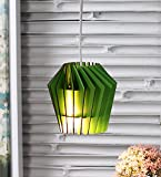 The Brighter Side whirlpool green MDF pendant light - small Hanging lamp for balcony living room home decor