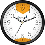 [Sponsored]Story@Home Round Plastic Wall Clock (25 Cm X 25 Cm X 4 Cm, Black, WC1406)