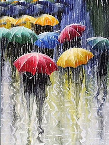DIY Diamond Painting Rhinestone 5D Embroidery Cross Stitch Arts for Craft Home Decorationation Oil Painting Umbrellas and Crowd