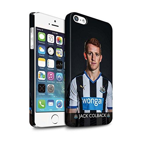 Officiel Newcastle United FC Coque / Clipser Matte Etui pour Apple iPhone SE / Pack 25pcs Design / NUFC Joueur Football 15/16 Collection Colback