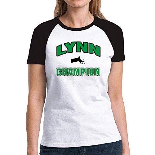 Eddany Lynn champion Damen Raglan T-Shirt (Stadt Lynn M)