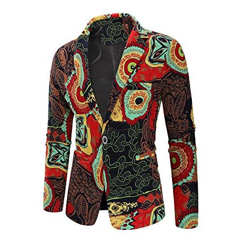 JYJM 2019 gedruckte Herrenmode Dashiki Cardigan Jacket Long Sleeve Printed Coat Herren-Hemd Slim-Fit Langarm-Hemden S-6XL Herren T-Shirt Logo Tee Herren-Hemd Slim-Fit Langarm-Hemden S-6XL - Printed Long Sleeve Coat