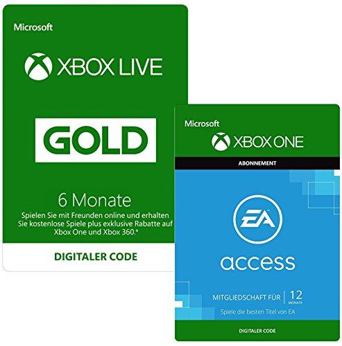 Produktbild 6 Monate Xbox Live Gold + 12 Monate EA Access | Xbox One - Download Code