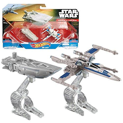 Mattel Selección Astronave en Paquete de 2   Die-Cast   Star Wars Hot Wheels, Star Wars Fahrzeuge & Flugzeuge:First Order Transporter vs. X-Wing Fighter