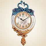 Komo Geräuscharm Modernes Ziffernblatt Kein nerviges Ticken Küchenuhr Wohnzimmer Wall Clock Clock Mute große Schlafzimmer Einrichtungsideen Wanduhren / 56 x 36 cm