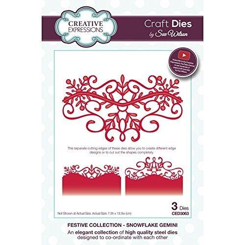 Craft die CED3063sue Wilson Festive collection–fiocco di neve gemelli di Creative Expressions