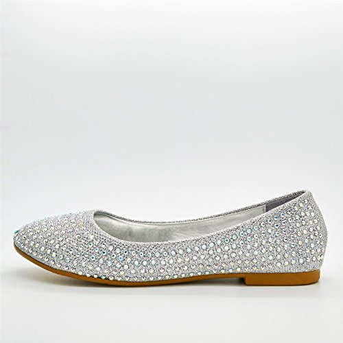 London Footwear - Ballet donna Argento