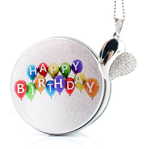 Birthday chiavetta usb diamante love cuore da pendrive memoria usb flash drive 2.0 memory stick, idee regalo originali, figurine 3d, archiviazione dati usb gadget 8 gb/16 gb/32g/64gb