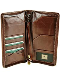 Visconti Italian Style Leather Travel Wallet For Passports, Tickets, Cards, Cash - Monza Wing MZ101