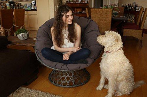 Destiny Drehsessel Coco Sit Papasansessel Round Schwenksessel Korbsessel Hundekorb Hundesessel Gartensessel Sessel - 6