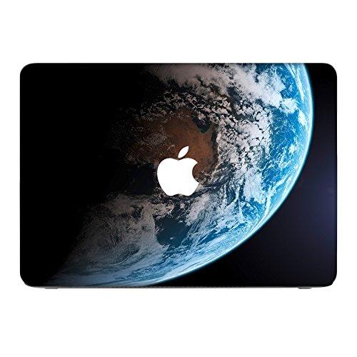 163 Mac (Weltraum 10163, Erde, Skin-Aufkleber Folie Sticker Laptop Vinyl Designfolie Decal mit Ledernachbildung Laminat und Farbig Design für Apple MacBook Air 11