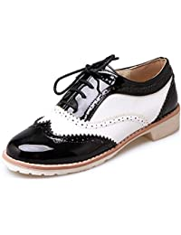 804147cbb91 Amazon.es  zapatos oxford mujer charol - Zapatos para mujer ...