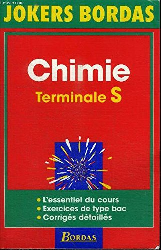 JOKE.005 CHIMIE TERM. S NP 96 (Ancienne Edition)