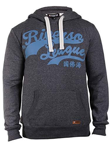 riverso Herren Kapuzenpullover Hoodie Pullover mit Kapuze 'Felix', Gre:S, Farbe:Grey Melange Standard 2 -