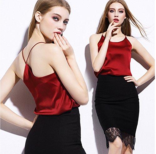 new summer style sleeveless silk women tank top Sexy deep