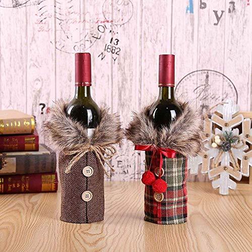 BOODON Navidad Funda para botella de vino, 2pz Cubierta Botella Bolsas Botella Vino Rojo           Navidad para Decoración Hogar de la Mesa de Cena para Las Fiestas de Navidad              Características del producto:      - Adecuado para de...