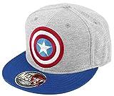 Captain America Shield Logo Casquette Snapback gris bleu/marine