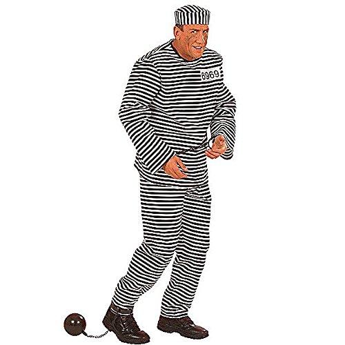 Widmann 56513 - Erwachsenenkostüm Gefangener, Größe (Kostüm Ideen Häftling)